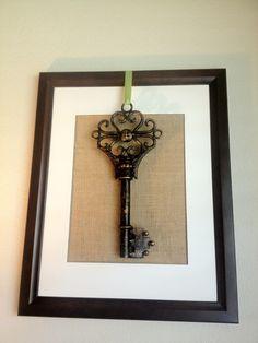 Simple skeleton key living room artwork