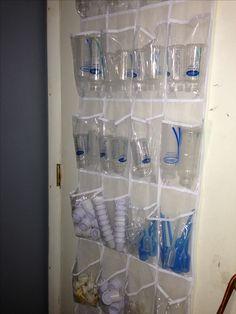 Baby bottles plastic shoe holder organize