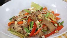 Sweet and spicy pork stir fry Pork Tenderloin Recipes, Pork Recipes, Paleo Recipes, Asian Recipes, Cooking Recipes, Pork Loin, Family Recipes, Ethnic Recipes, Paleo Meals