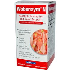 Vitamins and Minerals: *New* Garden Of Life Wobenzym N Enteric Coated Tabs, 800-Count Bottle -> BUY IT NOW ONLY: $91.95 on eBay!
