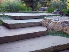 bluestone slab corner steps