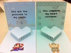 Happy Valentine's Day, Followers! Nintendo Valentine's Day Cards by ZeldaLikesMe