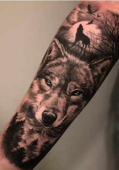Amazing and Best Arm Tattoo Design Ideas For 2019 Part arm tattoo ideas; arm tattoo for girls; arm tattoos for girls; arm tattoos for women; arm tattoos female Source by aslanprjn Wolf Tattoo Forearm, Wolf Tattoo Sleeve, Forarm Tattoos, Forearm Sleeve Tattoos, Tattoo Sleeve Designs, Tattoo Designs Men, Hand Tattoos, Wolf Pack Tattoo, Symbols Tattoos