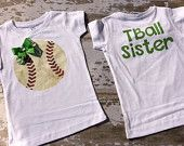 T-Ball Sister T-Shirt Personalized with Your Team Colors