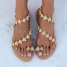 e6105d1b6 Ethnic Casual Comfort PU Sandals Shoes Flats Sandals