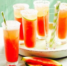 Watermelon bellinis for a summer party