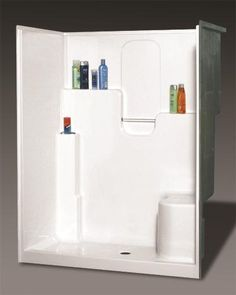 Mirolin - Melrose 4 Acrylic 1-piece Shower Stall With Seat-Left ...
