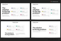 Problem/Threats PowerPoint Templates by Warna Works on Ishikawa Diagram, Tree Diagram, Problem Statement, Decision Tree, Creative Powerpoint Templates, Swot Analysis, Charts And Graphs, Slide Design, Core Values