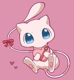 Mew For mew? 😏 what a cutie Mew And Mewtwo, Pokemon Mew, Pokemon Fan Art, Cute Pokemon Wallpaper, Nyan Cat, Cute Pikachu, Kawaii Art, Manga, Digimon