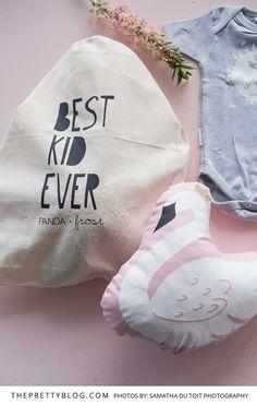"""Best Kid Ever"" baby shower bag | Photograph by Samantha du Toit |"
