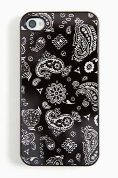 Your friends want cool stuff and you're gonna give it to them. The coolest protective case for the iPhone 4 featuring a black bandana print.