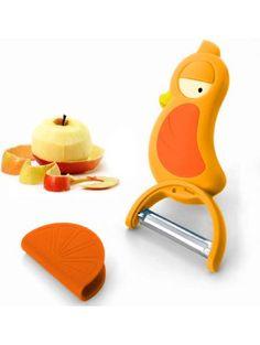 Premium Cute Bird Potato Peeler. Nonstick Fruit & Vegetable Swivel Peeler - with Cover. ❤ Home and AboveTM