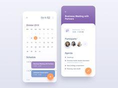 Calendar by Ivan Poddubchenko for QU'ARTE design on Dribbble Ios 7 Design, Daily Ui, Application Design, Business Meeting, User Interface Design, Mobile Design, Show And Tell, Interactive Design, Ios App