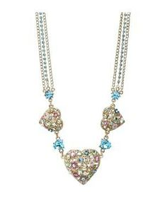 Betsey Johnson Fairyland Case 3 Heart Frontal Necklace #accessories  #jewelry  #necklaces  https://www.heeyy.com/suggests/betsey-johnson-fairyland-case-3-heart-frontal-necklace-multi/
