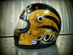 pinterest.com/fra411 #bw #twins #wtcbike #art #helmet