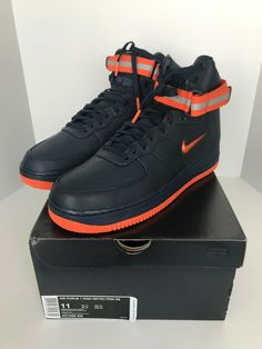 sports shoes f6218 2b1ca Nike Air Force 1 High Retro QS FDNY Quick Strike Sneakers AO1636-400 Size 11