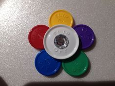 Retractable Reel Flip Off Medicine Vial Cap by BadgesByKarissa, $5.00