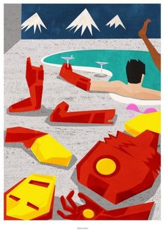 """Iron Man Modern Graphic Poster Print"""