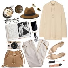 A fashion look from February 2015 featuring turtleneck shirts, cotton pants and ballet shoes. Browse and shop related looks.