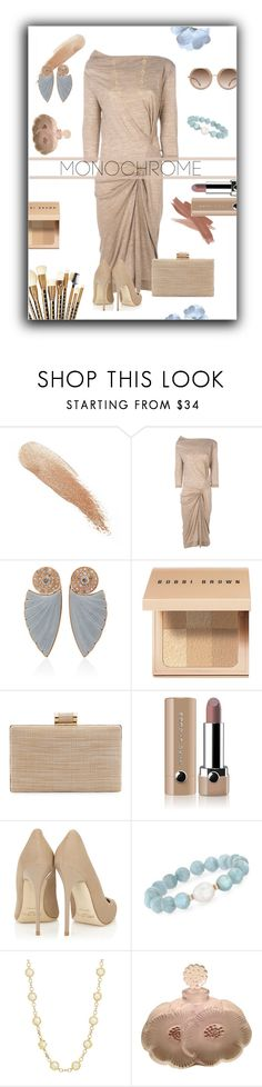 """""""Shades of nude with a hint of blue"""" by tre0911 ❤ liked on Polyvore featuring Cover FX, Vivienne Westwood Anglomania, Ioanna Souflia, Bobbi Brown Cosmetics, Sonia Kashuk, La Sera, Marc Jacobs, Jimmy Choo, Ross-Simons and Lalique"""