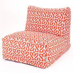 Aruba Bean Bag Lounge Chair - Orange by Majestic Home Goods