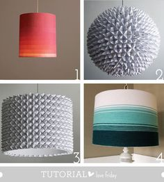 diy lampshades - love both the ombre shades