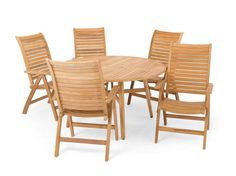 Westchester 5 Pc.Teak Dining Set with 55 Round Table