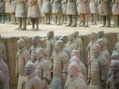China, Shaanxi Province, Xian, Terra Cotta Warriors in Emperor Qinshihuangdi's Tomb Photographic Print by Keren Su at AllPosters.com