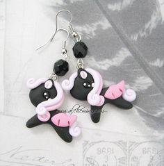 Orecchini coppia Pony neri ♥  www.alchemian.com