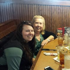 My granddaughter and me  Rachel and Dawn.