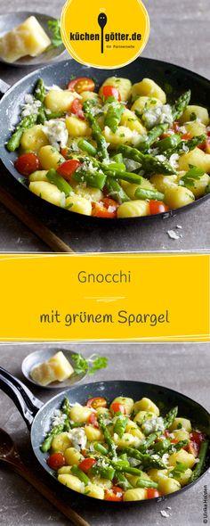 Knakiger Spargel mit fruchtige Tomaten und herzhaften Gnocchi, eine perfekte kombination für leichte Frühlingstage. Weitere Rezepte findet ihr bei uns!
