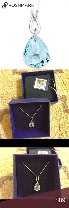 Swarovski Krystal necklace in original box Swarovski necklace, light blue crystal, very beautiful, in original box. Swarovski Jewelry Necklaces