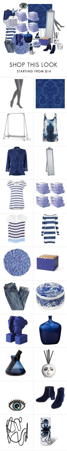 """indigo closet"" by leahrae-1 ❤ liked on Polyvore featuring interior, interiors, interior design, home, home decor, interior decorating, Hue, Cole & Son, Menu and Altuzarra"
