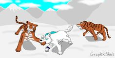 Wolf vs Tigers by Storm-Cwalker.deviantart.com on @DeviantArt