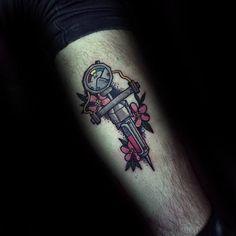 3 Tattoo, Time Tattoos, Body Art Tattoos, New Tattoos, Tattoos For Guys, Sleeve Tattoos, Tattoos For Women, Female Tattoos, Fallout Tattoo