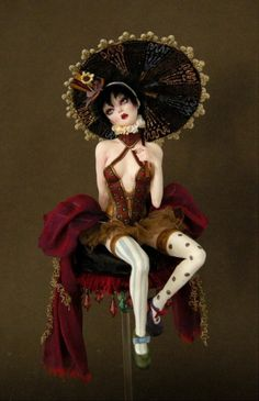 Venetian Circus Girl - Nicole West Fantasy Art