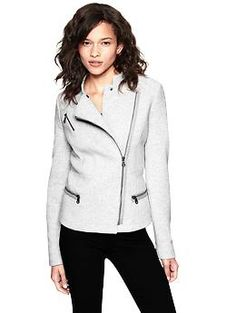 Exactly the jacket I'm looking for, but in white or grey leather!