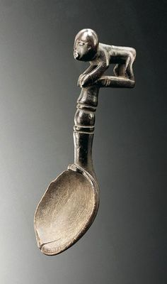 Africa | Spoon from the Baule people of Ivory Coast | Wood