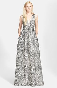 Tory+Burch+Embroidered+Silk+Organza+Gown+available+at+#Nordstrom