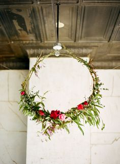 I think this could be cool without the flowers even - just the branches/greenery
