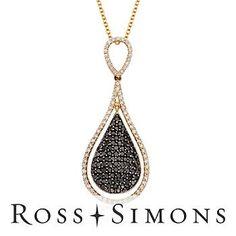Black and White #Diamond Necklace
