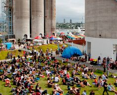 Silo Park - Auckland waterfront, check out upcoming events. New Zealand North, Honeymoon Ideas, Upcoming Events, Auckland, Sailing, Dolores Park, Places To Visit, Coast, Urban