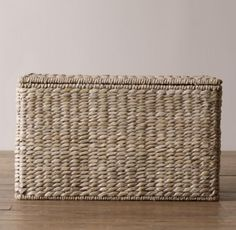 Seagrass Closed Toy Basket Ash