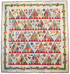 Material Obsession is a patchwork shop with a focus on using contemporary fabrics and traditional designs to make spectacular quilts. Patch Quilt, Applique Quilts, Quilt Blocks, Hand Applique, Quilting Projects, Quilting Designs, Quilting Ideas, Flower Quilts, Quilt Material