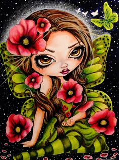 Coloring in Jasmine Becket-Griffith Coloring Book