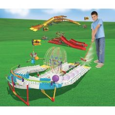 The Mini Golf Building Set from K'NEX is a 3,111-piece set that builds a real, working miniature golf course.