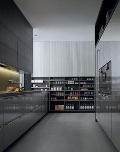 My Planet Poliform Kitchen - Milia Shop Modern Kitchen Cabinets, Modern Kitchen Design, Interior Design Kitchen, Modern Interior Design, Home Decor Kitchen, Kitchen Furniture, Cocinas Kitchen, Functional Kitchen, Home Room Design