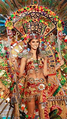 Karina Gonzalez shows off the national costume for Mexico at the 2012 Miss Universe pageant.