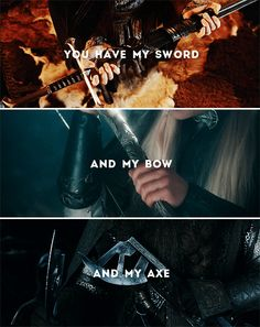 If by my life or death I can protect you, I will.  #lotr