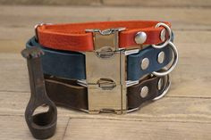 Dog collar ID address tube Custom leather collar Leather Personalized Dog Collars, Handmade Dog Collars, Dog Accessories, Leather Accessories, Custom Leather, Tan Leather, Dachshund Puppies, Funny Puppies, Leather Key Holder